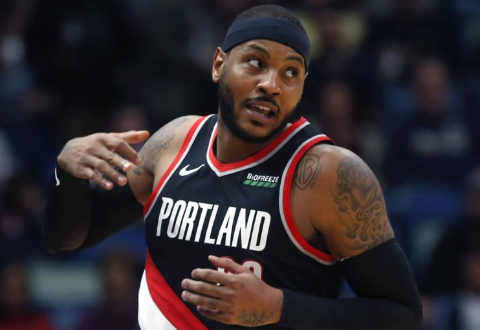 "Carmelo Anthony Returns to NBA; ""Felt Great"" Despite Blazers' Loss"
