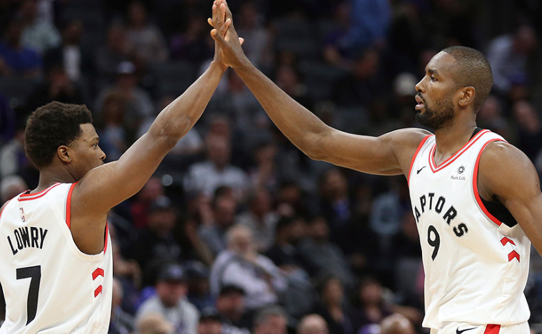 Lowry and Ibaka Lead Raptors to Record-Setting 12th Consecutive Win