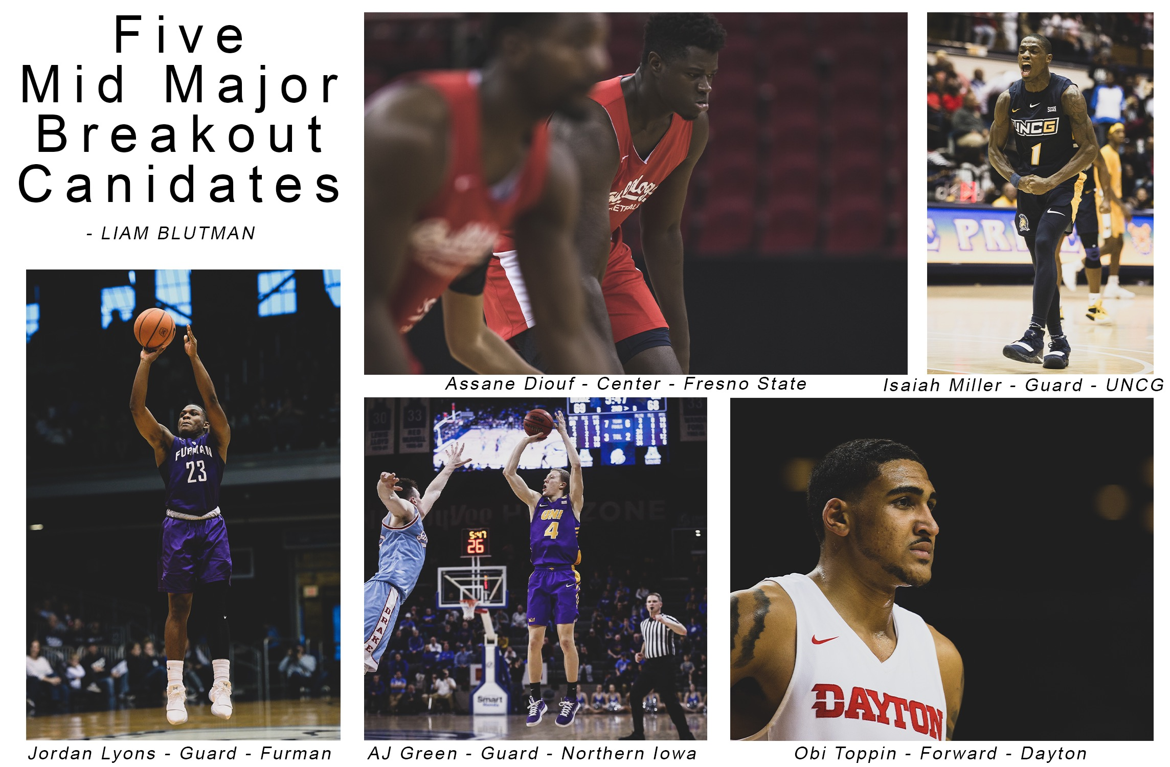 Five Mid-Major Breakout Candidates 2019-20